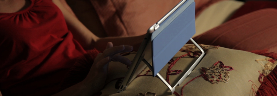 HumanToolz iPad Stand supports optimal viewing angles