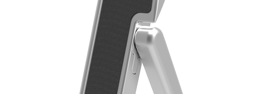 Precision hinge technology for HumanToolz iPad Stand