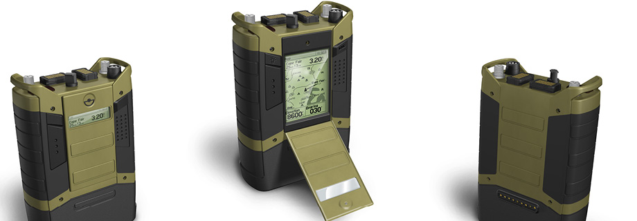 Product rendering for Joint Tactical Radio System Handheld, Manpack, Small Form Fit Cluster 5