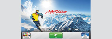 Life Fitness user interface